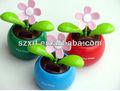 太陽光発電の花おもちゃdecorationcar自動車用