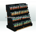 2014 black color printing creative cardboard pdq nut pallet display