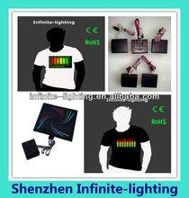 2014 Customize Own Logo Programmable Led T Shirt/El T-shirt shenzhen factory