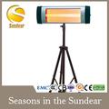 Caliente la venta de fibra de carbono tubo/halógeno/tubo de cuarzo calentador de infrarrojos eléctricos 2000w