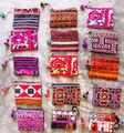 Mini hmong coulissante,/médaille. sac/accessoires/l'ethnic/broderie/coloré./tribales./à vendre ensemble