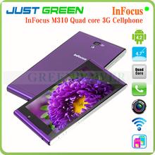 Original InFocus M310 4.7inch purple Quad Core 1.5GHz Dual Camera 1.3Mp/8MP Dual SIM Card Mobile Phone support GPS/Wifi