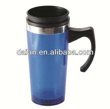 Acrylic Thermos Coffee Mug WIth Handles