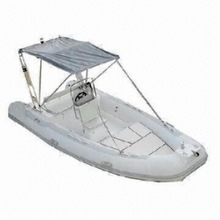 Rigid inflatable boat for 10 person with electric motor can put 115hp outboard engine