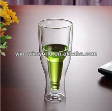 Innovative Design Double Walled Insulated Glass Beverage Cup