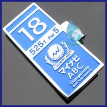 Decorative enamel rectangular hat clip/China wholesale magnetic hat clip ball marker