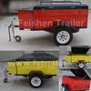 Cargo trailer small camper trailer OF1 Colorful