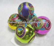 Best saling new design painting Xmas ball ornament
