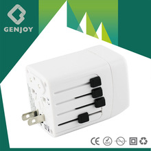 2014 HOT SELL 5V 2.1A AC DC Universal Usb Led Logo Travel Adapter Australiaed