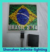 Brazil World Cup panel t shirt/El light up t shirt panel