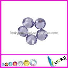 Hot sale highest quality HOT FIX DMC rhinestone Copy swarov 2038 Violet Color Very shine crystal