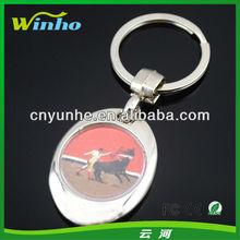 Blank 25mm Diameter Metal Keyring