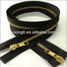 #5 Gold teeth 2 way open end Metal zippers/Metal zipper gun metal zipper