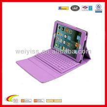 2015 newest bluetooth keyboard PU leather case for ipad mini