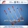 estériles desechables de insulina jeringa con aguja