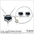 2014 moda prata 925 conjuntos de jóias feito com Swarovski Elements S-3019