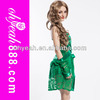 Sexy Green Extremely Exciting Transparent Sexy Night Dress For Woman