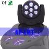 Moving Head 7*12w LED Aluminum Par Light 4 in 1 RGBW Beam Light 2w