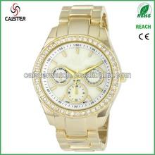 Womens Rhinestone Accent Gold Tone Bracelet XOXO Watch