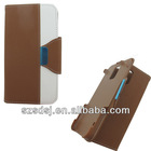 Credit holder wallet stand leather flip mobile phone case cover for samsung galaxy s5