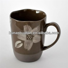 Ceramic Porcelain Mug/ Color Clay Ceramic Mug with Hand Painting
