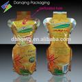 Guangdong atacado bebida e suco de frutas stand up pouch com buraco perfurado