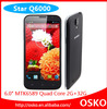 in stock Star Q6000 Black 6.0'' HD(1280*720) MTK6589 Quad Core 1.2GHz 3800mAH*2 1GB+8GB 13.0MP Camera Original phone