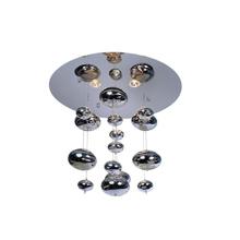 Led pendant light with chrome balls