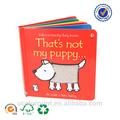 la impresión personalizada los niños bordo libro hecho en china