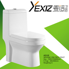 A3110 sanitary ware one piece siphonic ceramic toilet