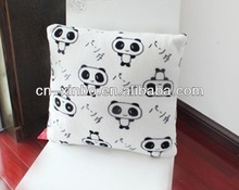 White/Black Panda 45*45cm Soft Coral Fleece Cushion Covers Pillow Case