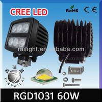 cree 60w led work light waterproof ip68 RGD1031 4x4 utv light