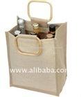 jute wine bags for six bottles