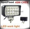 super bright led work light 45w,led truck work lamp for all cars