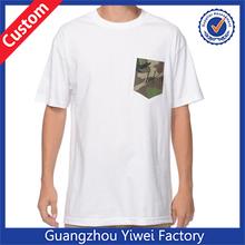 OEM Custom Stylish Pocket T Shirt Manufacturer Plain Mens T Shirt