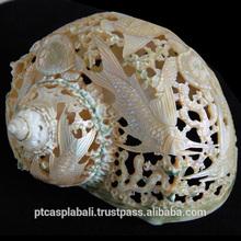 seashell crafts art carving handicrafts