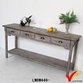 Francesa do país do vintage reciclado longo e estreito console de mesa de madeira