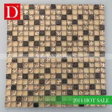 Backsplash stainless steel mix crackle crystal glass mosaic tile