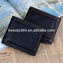 New Casual Men Wallets Wholesale 9 Card Slots Men Leather Purse Wallet Card Holder Purse