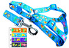 Animals Word Picture Pring Dog Harness and Leash C1499