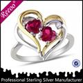 Design à double coeur bague éternité symbole de l'amour