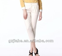 2014 New designed printed lady cropped trousers