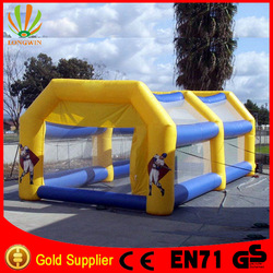 cheap pvc sports related inflatable baseball batting cage for sale