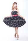 Black Flower Printed Ladies Dress