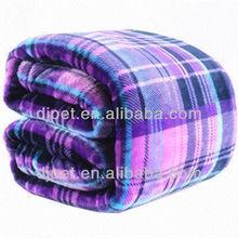 purple printed outside flannel fleece blanket