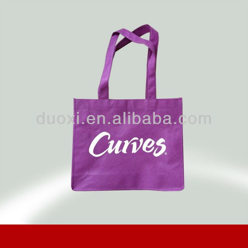 Promotion no woven rose shape folding shopping bag 100% manufacturer