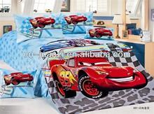 2014 hottest high quality children bed sheet sets car bedding set