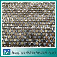 Environmental protecion! 3mm half rhinestone banding for garment accessories