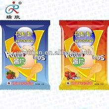 Vivid shiny printing plastic brands cherry chips packaging bags