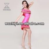 Une pièce de haute 2014 ballroom dance robe à la mode et élégant, latin costume chine. wuchieal 2038 qc